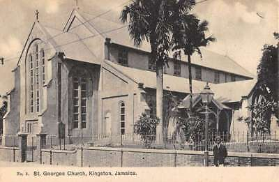 Kingston-Jamaica-St-Georges-Church-Street-View-Antique